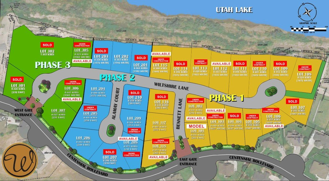MAP WARDLEY HOME WITH LOTS SOLD AND UNDER CONSTRUCTION AVAILABLE MAY 2021